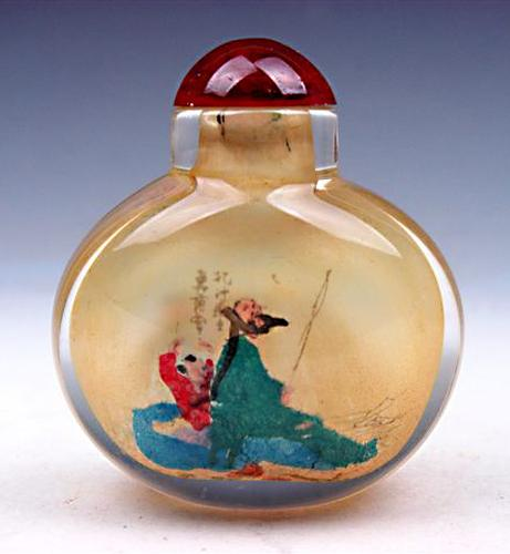 Reverse Hand Painted Snuff Bottle