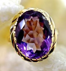 Sweet 14K Vintage Amethyst Ring