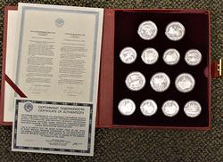Russian Proof Silver Moscow Olympic Coin Set, 28 Coin