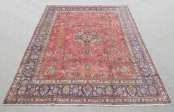 Handmade Semi Antique Persian Tabriz 12.6x9.8