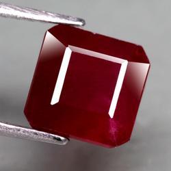 Very impressive 6.05ct emerald cut ruby