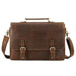 Crazy Horse Leather Satchel Briefcase