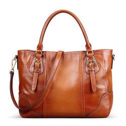 Genuine Soft Leather Vintage Designer Shoulder Bag