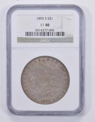 XF40 1895-S Morgan Silver Dollar - NGC Graded
