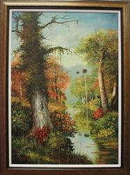 Beautiful Bacci Jesus Original Oil Painting