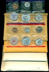 1960 to 1963 P&D Uncirculated US Mint Sets (4 sets)
