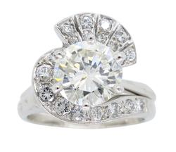 Incredible GIA Certified Diamond Ring with Diamond Wrap