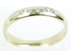 Vintage Men's 10K Gold Diamond Band