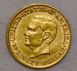 1916 Mckinley Comm US $1 U S Gold