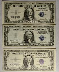 1935 E Choice CU & Gem 1935 F Ch CU $1 Star Silver Certificates