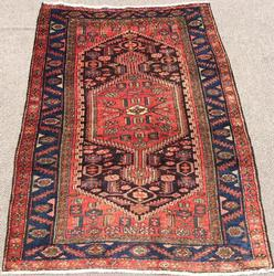 Enchanting Mid Century Authentic Handmade Vintage Persian Mission