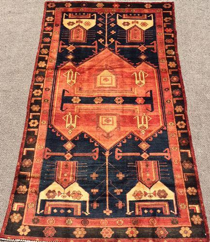 1960s Authentic Handmade Armenian Weave Vintage Lankoran