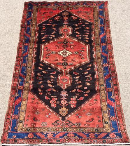Enchanting 1950s Authentic Handmade Vintage Persian Rug