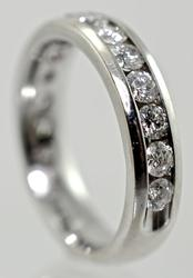 Popular 14K White Gold Channel-Set Diamond Band