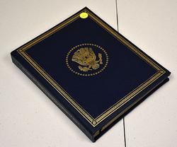 President Proof Medals in Sterling. Binder