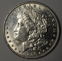 1886 Morgan Silver Dollar, AU