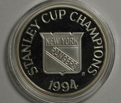 Limited Edition 1994 NY Rangers 1 oz Silver Round