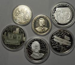 Group of Liberian Commem Coins, Some Silver