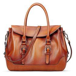 Vintage Soft Leather Top Handle Shoulder Bag