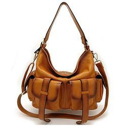 Womens Genuine Leather Crossbody Hobo Bag
