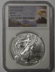 MS70 First Relese 2015 American Silver Eagle, NGC