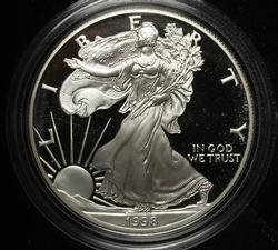 1998 Proof Silver Eagle OGP