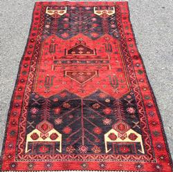 Enchanting 1960s Armenian Weave Vintage Persian Lankoran