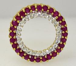 Wheel of Gems in Gold, Pendant
