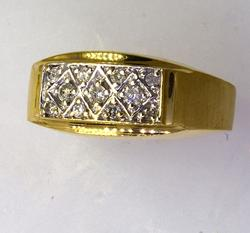Mens Diamond Band in Gold