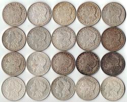 Roll of 20 - 1921 Morgan Silver Dollars 90% Silver