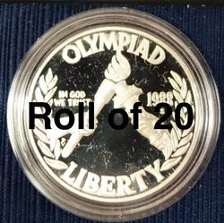 Roll of (20) 1988-S Olympic Silver Dollar