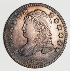 1821 Capped Bust Dime- Near Uncirculated
