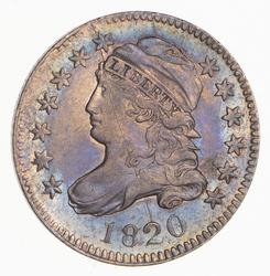 1820 Capped Bust Dime - Rainbow Toned