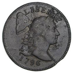 1796 Liberty Cap Large Cent - Clip Planchet Error