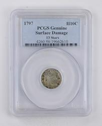 Genuine 1797 Draped Bust Half-Dime - PCGS Graded