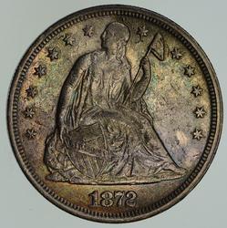 1872 Seated Liberty Silver Dollar - Circulated