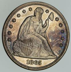 1865 Seated Liberty Silver Dollar - Circulated