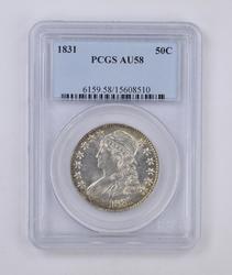 1831 Capped Bust Half Dollar - PCGS AU58