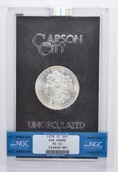 MS63 1878-CC Morgan Silver Dollar - GSA Hoard - NGC Graded