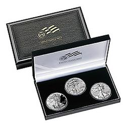 2006 American Eagle 20th Anniversary 3pc Silver Set