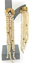 Surprising LONG Fresh Water Pearl Dangle Earrings