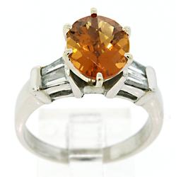 Stunning 18K Citrine & VS Diamond Ring