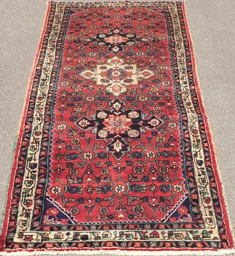 Handsome 1950s Authentic Handmade Vintage Persian Rug