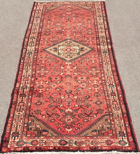 Handsome1940s Authentic Handmade Vintage Persian Rug