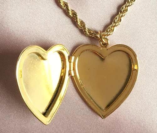 Romantic gold plated heart locket pendant necklace gold plated heart locket pendant necklace aloadofball Gallery