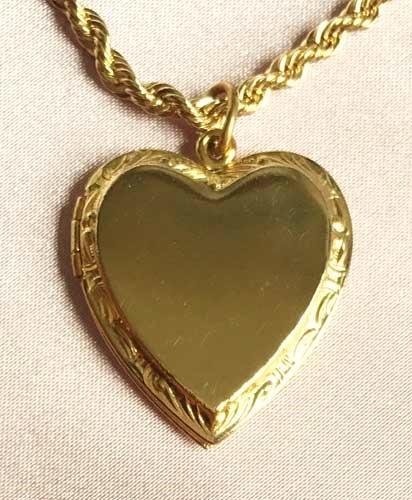Romantic gold plated heart locket pendant necklace romantic gold plated heart locket pendant necklace aloadofball Gallery