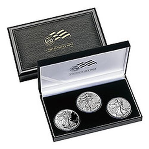 2006 American Eagle 20th Anniversary 3pc Silver Set
