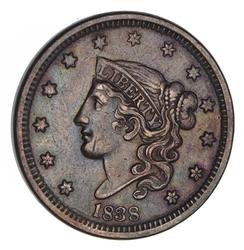 1838 Young Head Large Cent - Not Circulated