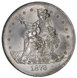 1876-S Trade Silver Dollar-Chop Marks - Not Circulated