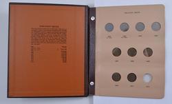 Partial Set - 9 Two-Cent - 9 Nickel Three-Cent Pieces 1865-1881 Album